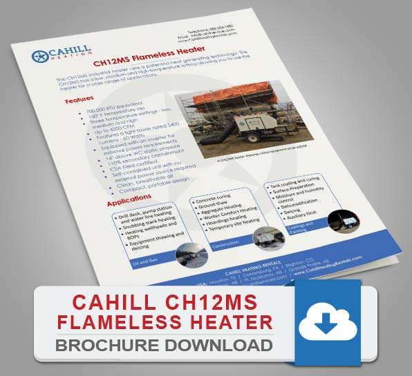 Cahill CH12MS Portable Heating Brochure Download