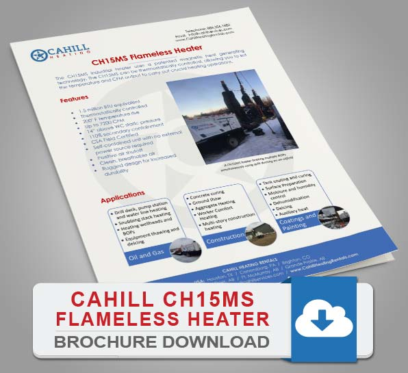 Cahill CH15MS Portable Heating - Brochure Download